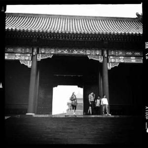 Poet Dora Malech in the Forbidden City, Beijing, June 29th, 2012